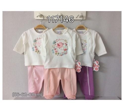 Одежда для малышей в Молдове twetoon baby 117146 Комплект 2ед. (штанишки и батник)