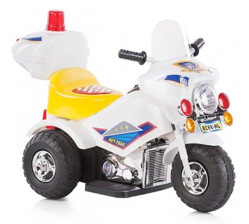 chipolino Мотоцикл на аккумуляторе police elmp01601wh белый
