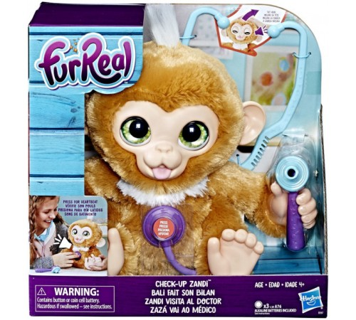 "furreal friends e0367 Интерактивная игрушка ""Вылечи мартышку"""