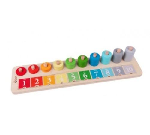 """classic world 54556 jucărie educativă din lemn """"Învațăm să numărăm"""""""