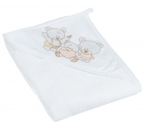 "tega baby prosop cu glugă ""ursul"" ms-014-118 (80х80 cm.) alb"