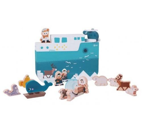 """classic world 54389 Деревянная игрушка """"Антарктическое путешествие"""""""
