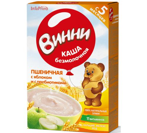 Детское питание в Молдове Винни Каша безмолочная Пшеничная с яблоком и пребиотиками (5 m+) 200 gr.