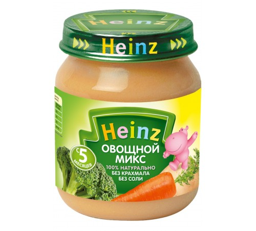 Детское питание в Молдове heinz Пюре Овощной Микс 120 гр. (5м+)