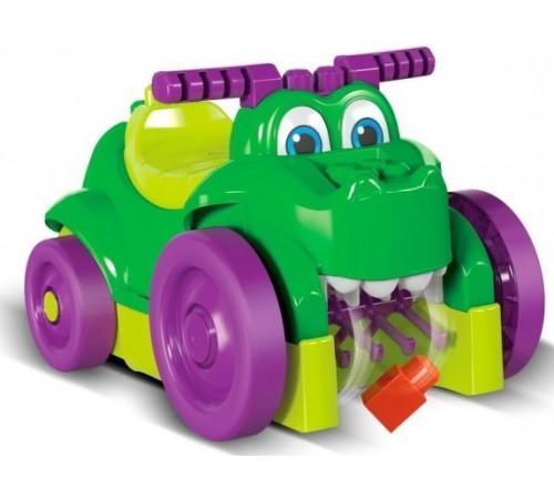 "mega bloks gfg22 Машинка Крокодил ""Катайся и собирай кубики"""