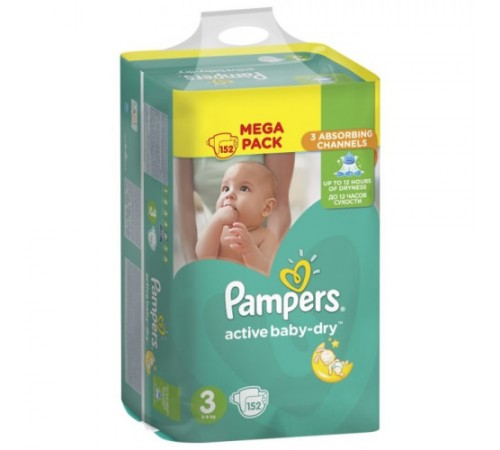 pampers mega pack midi 152 (3) , 9055