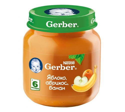 gerber Пюре яблоко-абрикос-банан ***