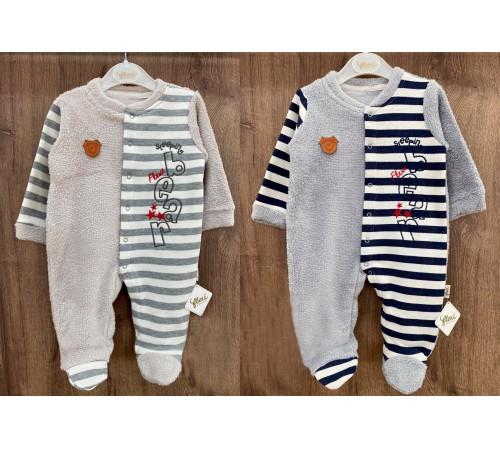Одежда для малышей в Молдове flexi 215069 Комбинезон тёплый для мальчика (р.56-62-68) в асс.