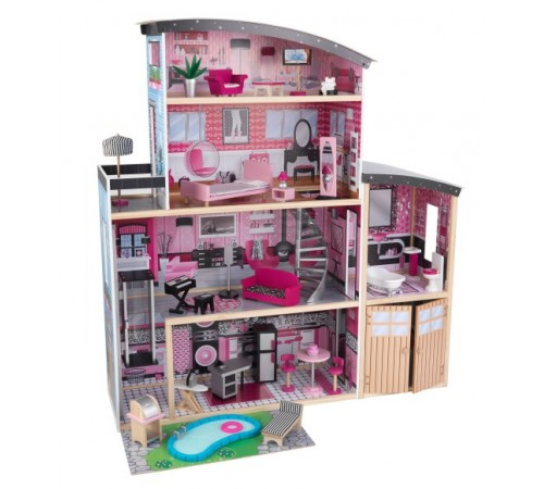 kidkraft 65826 Домик для кукол sparkle mansion dollhouse