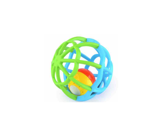 baby mix gw-g106 Мяч с погремушкой гибкий голубой