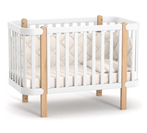 veres 05.3.1.21.15 patuț pentru copii ЛД5 monaco (alb/fag)