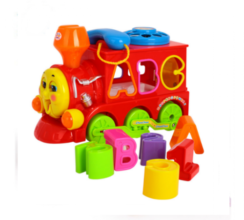 hyila toys 8810 Паровозик-сортер  с музыкой и светом