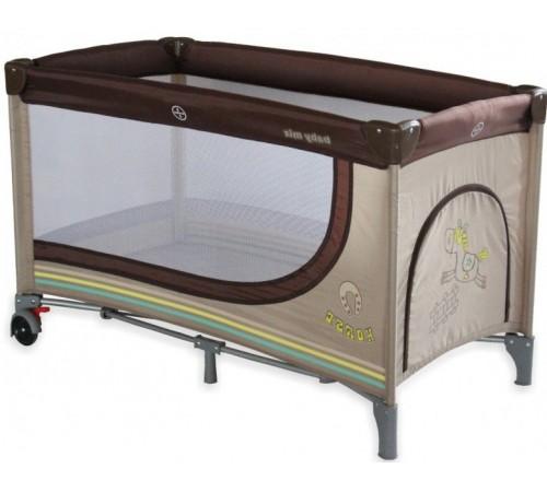 """baby mix hr-8052-161 Манеж детский """"Лошадка"""" бежевый"""