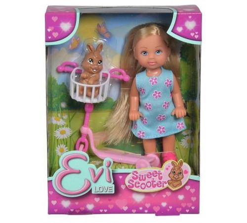 """Детскиймагазин в Кишиневе в Молдове simba 5733338 Кукла """"Еви на самокате с кроликом"""""""
