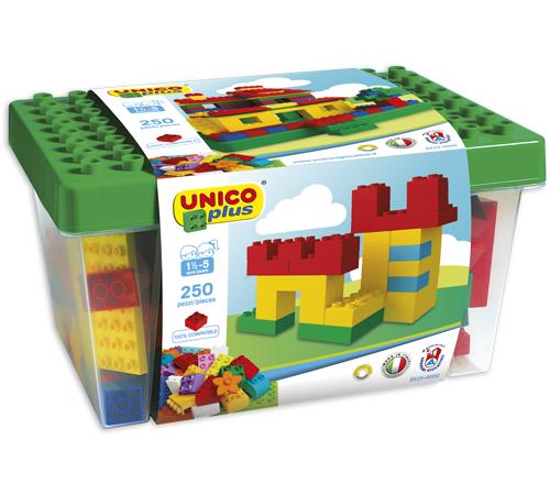 """androni giocattoli 8525-0000 constructor într-un container """"unico plus"""" (250 el.)"""