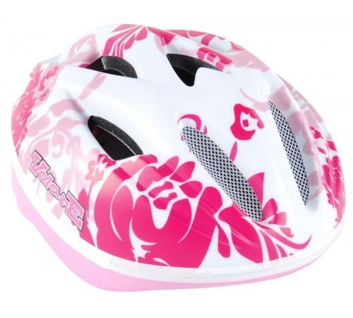 """volare 470 Шлем """"deluxe"""" (51-55 см.) бело-розовый"""