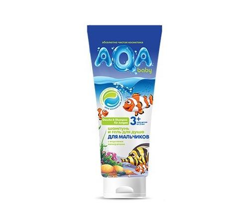80.27 aqa baby kids Шампунь-гель для душа для мальчиков (250 мл.)