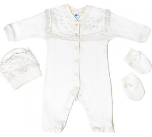 """Одежда для малышей в Молдове veres 110-3.52-22.56 Комплект """"lace white"""" (р.56) 3 ед."""