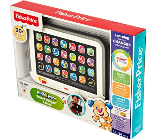 fisher-price dkk24 tabletă interactiva cu tehnologie smart stages (ro-engl.)