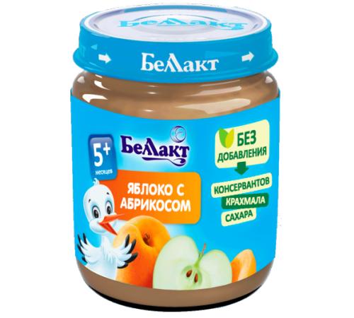Детское питание в Молдове Беллакт Пюре из яблок и абрикос 100 гр. (5 м. +)
