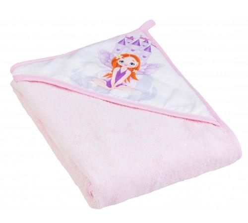 """tega baby prosop cu glugă """"princesa"""" lp-008-123 (100х100 cm.) roz"""