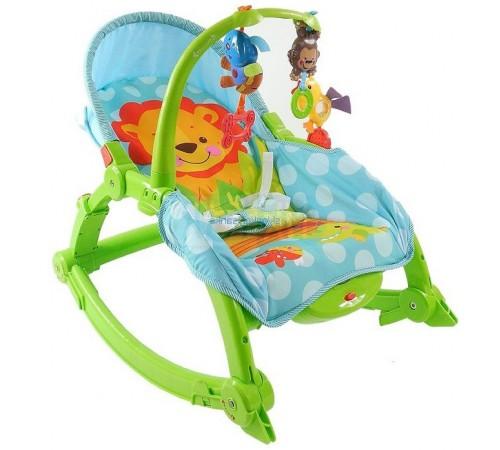baby mix tt-130824 Лежачек музыкальный 2в1 зелёно-голубой