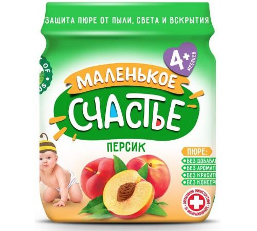 """Детское питание в Молдове """"Маленькое счастье"""" Пюре из персика 90 gr. (4m+)"""