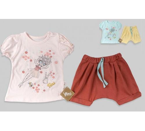 Одежда для малышей в Молдове flexi 216135 Костюм 2 единицы (9-12-18-24 мес.) в асс.