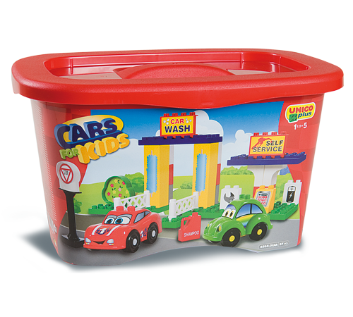 "Детскиймагазин в Кишиневе в Молдове androni 8568-0car Конструктор cars kids ""Сервисная станция"" (37 дет.)"