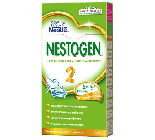 nestle nestogen® 2 prebio (6-12m) 350 gr.