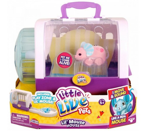 """little live pets 28151 Интерактивная игрушка """" Мышка в домике"""" в асс."""