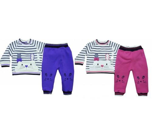 Одежда для малышей в Молдове bebemania 9127 Костюм девочка (2 ед.) в асс.