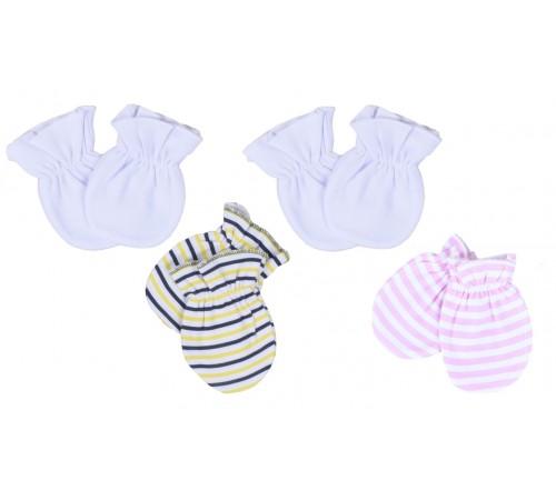 Одежда для малышей в Молдове mini damla 43009 Варежки-царапки (2 пары) в асс.