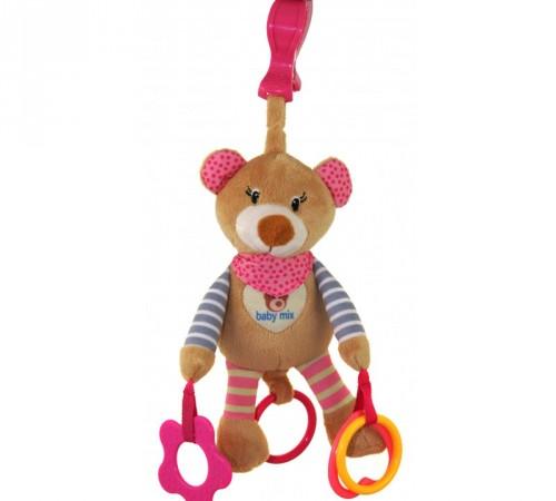 """baby mix stk-16300p Игрушка для путешествия """"Мишка"""" розовый"""