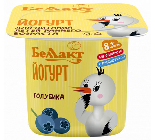 """Беллакт Йогурт для детей раннего возраста """"Голубика"""" 2,9 % (8м +) 100 гр."""
