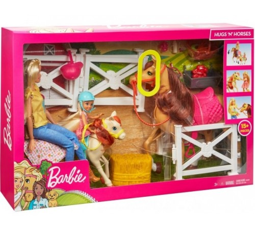 "barbie fxh15 Набор с ""Верховая езда и объятия"""