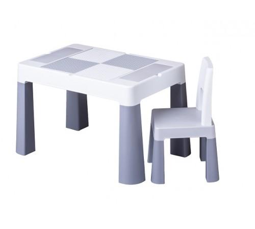 tega baby Столик и стульчик  multifun mf-001-106 серый
