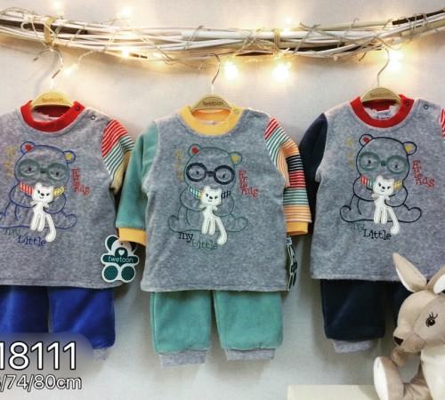 Одежда для малышей в Молдове twetoon baby  Комплект велюровый 2ед. (штанишки и батник) 118111
