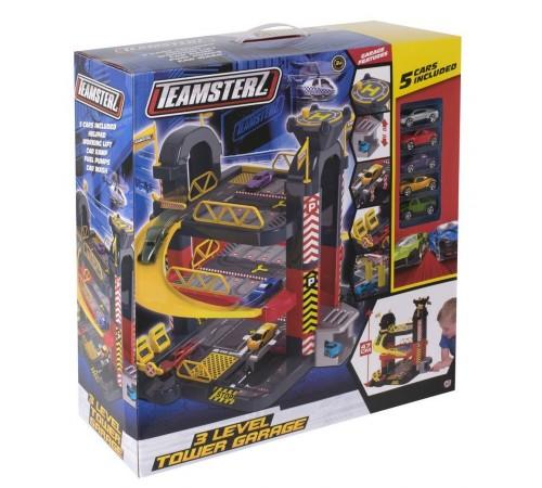 """teamsterz 1416475 Игровой набор """"Парковка 3 уровня"""" с 5 машинами"""