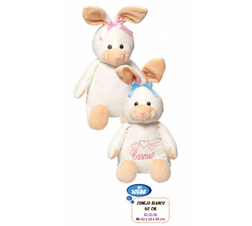 Детскиймагазин в Кишиневе в Молдове artesania beatriz 10586 Мягкая игрушка Кролик 42 см