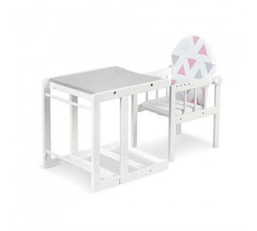 klups Деревянный стул трансформер agnieszka ii de luxe серый/белый