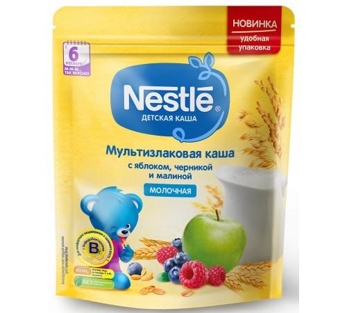 nestle Каша мультизлаковая молочная с яблоком, черникой и малиной 220 гр. (6 м+) 12382865