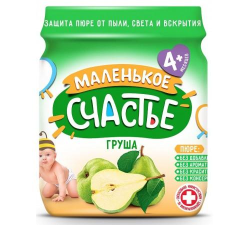 """Детское питание в Молдове """"Маленькое счастье"""" Пюре из груши 90 gr. (4m+)"""