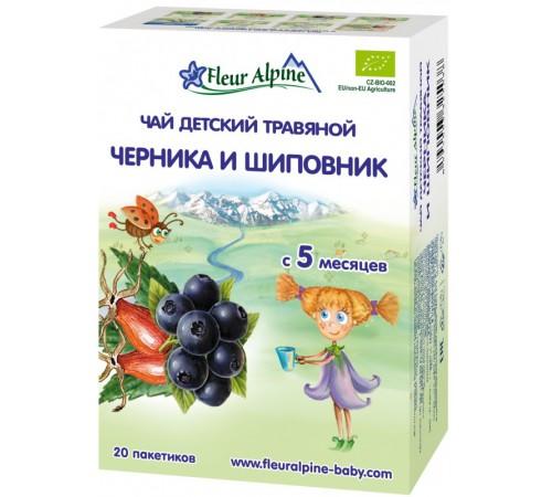 """Детское питание в Молдове fleur alpine Детский  чай """"Черника и шиповник"""" 30 gr. (5+)"""