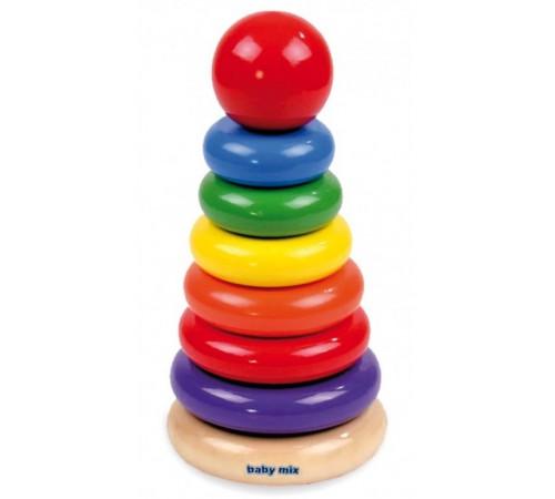 """baby mix tp-42142  Игрушка деревянная """"Пирамида"""""""