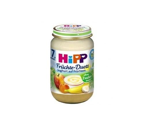 Детское питание в Молдове hipp 5475 Йогуртно-фруктовое пюре «Яблоко-абрикос-банан»