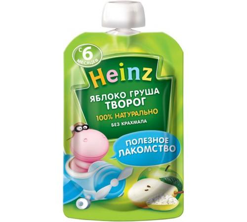 heinz Пюре Яблоко-груша-творог (6 м +) 90 гр.