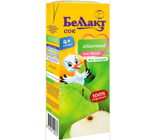 Детское питание в Молдове Беллакт Сок яблочный 200 мл. (4 м. +)