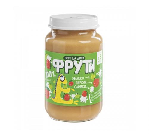 """""""Маленькое счастье"""" piure """"Фрути""""de mere, piersic, cremă180 gr. (6m+)"""