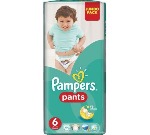 pampers pants 6 (16+ kg.) 44 buc.